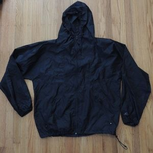 Helly Hansen Vintage Windbreaker Jacket Black Hood